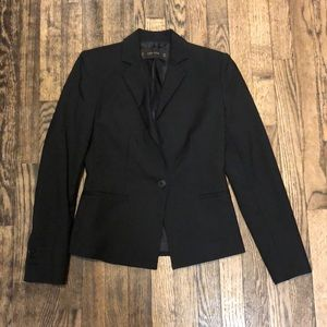Zara black one button blazer size XS